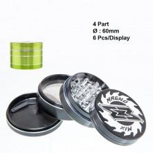 Гриндер металлический Magno Mix Herbal с 4 частей, 63 мм