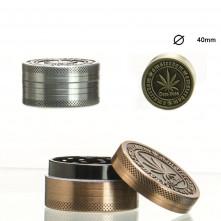 Гриндер металлический Amsterdam на 2 секции, 40 мм