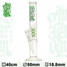 Бонг стеклянный Amsterdam Ice Noches - H:35cm- ?: 50/40mm-SG:18.8mm