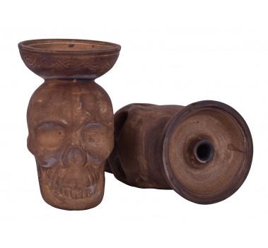 Чаша для кальяна с белой глины LEX череп оптом - 10021245