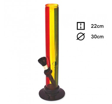 Бонг акриловый Rasta Stripe Theme H:22 cm