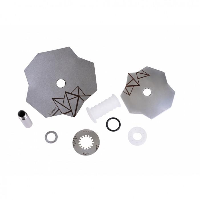 Кальян Embery Mini Mono - Flip Silver-Snow оптом - 41176