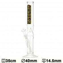 Бонг стеклянный Glass Psycho - H:35 - Ø:40mm- Socket:14.5mm