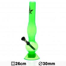 Бонг акриловый Acrylic Bouncer Green H:26cm