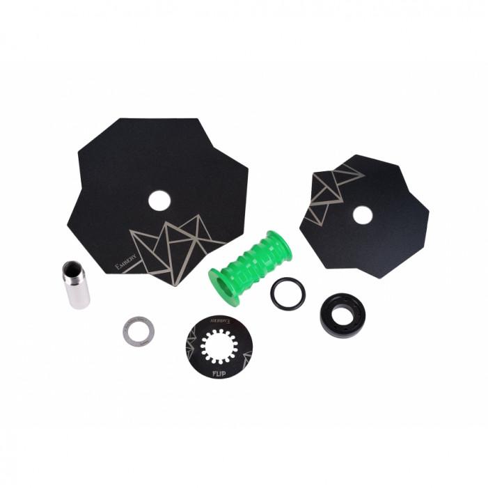 Кальян Embery Mini Mono - Flip Lime-Black оптом - 41180