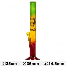 Бонг стеклянный Rasta Lion- H:35cm- Ø:36mm