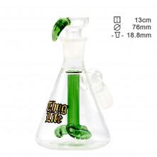 Перколятор стеклянный Thug Life Green - H:13cm- SG:18.8mm - O:76mm