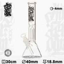 Бонг стеклянный Amsterdam- H:30cm - Ø:40mm - Socket:18.8mm