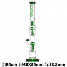 Бонг стеклянный Grace Glass LABZ Series | Haze Maze v2 Green H:60cm Ø:55/45mm SG:18.8mm