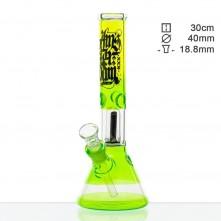 Бонг стеклянный Amsterdam GREEN ICE - H:35cm- Ø: 50/40mm-SG:18.8mm
