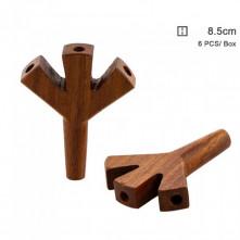 Трубка деревянная Amsterdam Triple Hole, 8 см