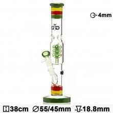 Бонг стеклянный Grace Glass HAMMER Series | Funky Twist H:38 Ø:55/45mm SG:18.8mm