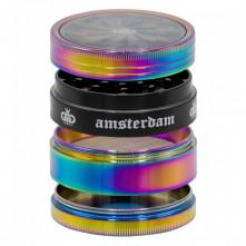 Гриндер металлический GG Amsterdam Rainbow 4part d:63mm