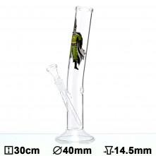 Бонг стеклянный CannaHeroes Cannaman - H:30cm - Ø:40mm - SG:14.5 mm