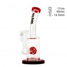 Бонг стеклянный Thug Life Birdy Red H:19cm O:40/19mm S:14,5mm