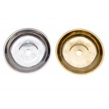 Тарелка металлическая с кругляшками 17*3(1,8)см